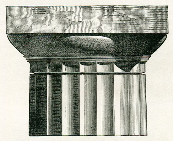 Doric capital and part of shaft Mahaffy John Pentland 1890